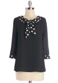 Work and Wander Top. Youll find that your black blouse works wonders, no matter where you flaunt it! #black #modcloth