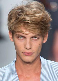 Look at that cold stare o.o Yikes! --Baptiste Radufe at Michael Kors Spring 2014