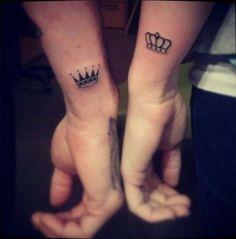 Small Wrist Crowns - Creative Couple Tattoos