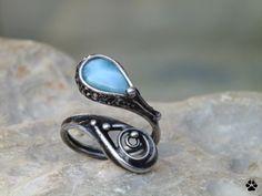 Kapička - prsten s larimarem