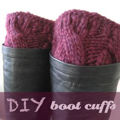 owlswakeup: DIY Knitted Boot Cuffs. Now I can save money and make it any color i want! New hobby!