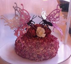Butterfly & Roses