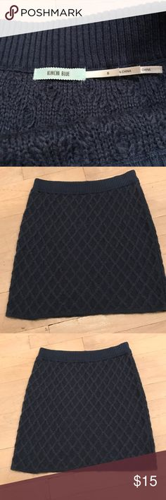 Blue knit Urban Outfitters skirt Blue knit Urban Outfitters skirt. So cute for fall or winter with tights! Urban Outfitters Skirts Mini
