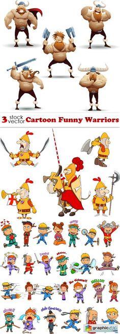Cartoon Funny Warriors