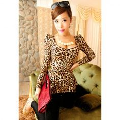 $7.78 Alluring Sexy Slim Fit Large Hem Puff Sleeve T-Shirt For Women