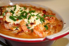 Tonight's Dinner - Greek Shrimp with Feta from Cook's Illustrated Shrimp Appetizers, Shrimp Recipes, Salmon Recipes, Greek Recipes, Whole Food Recipes, Cookbook Recipes, Cooking Recipes, Greek Shrimp, Kitchens