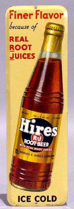 Antique Hires Root Beer Door Push Signs