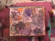 It is amazing to watch her work...her work goes from nice...to a big mess...back to really creative and nice again.    AvCamilla: Autumn Art journal page