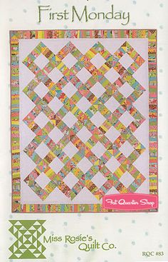 First Monday Quilt Pattern Miss Rosies Quilt Company #RQC-83 - Fat Quarter Shop