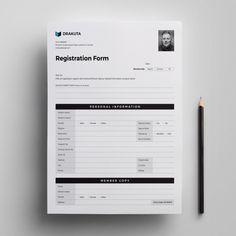 Registration Form #bill #businessinvoice #cleaninvoice #corporateinvoice #invoicedesign #invoicetemplate #invoices #officeinvoice #print #professionalinvoice #standardinvoice #stationary #graphicriver #creativemarket Invoice Design, Letterhead Design, Invoice Template, Business Flyer Templates, Form Design, Web Design, Graphic Design, Conference Poster Template, Registration Form