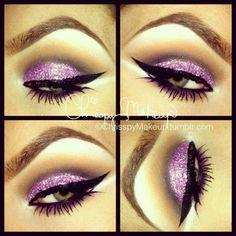 Purple glitter smokey