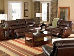 Recliner Sofa Couch in Brown Leather Match...CLICK for more detail...FREE Shipping on order over $25