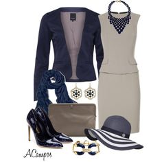 Navy & Taupe, created by anna-campos on Polyvore