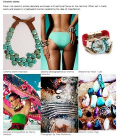 S/S 15 Fashion Forecast By WGSN turquoise/ green/ ceramic stones Trends 2015 2016, Ss15 Trends, 2015 Fashion Trends, Fashion Brands, Spring Summer Trends, Spring 2015, Fashion Forecasting, Quirky Fashion, Color Trends