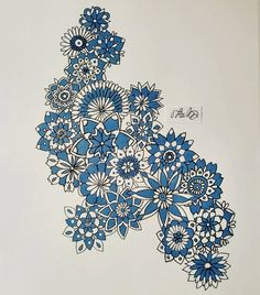 #to_lahtinen #flower #blue #beautiful #decoration #art #drawing #artsy