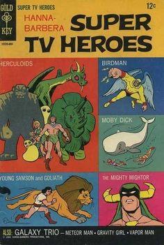 Birdman y Los Herculoides (The Herculoids) en la portada del primer número de Hanna-Barbera Super TV Heroes (1968)