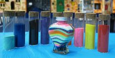 Colourful sand ritual for blending of families. Unity Ceremony, Naming Ceremony, Wedding Ceremony, Unity Sand, Grain Of Sand, Name Day, Vows, Families, Jar