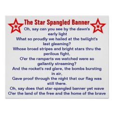 National Anthem Learning Activity