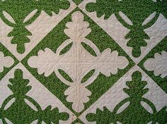 reel quilts | quilts - antique / Detail of Antique Handmade Oak Leaf and Reel Quilt ... Inspiration Only