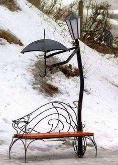 I don't care for the park bench.but the rest is sooo cute I don't care for the park bench.but the rest is sooo cute The post I don't care for the park bench.but the rest is sooo cute appeared first on Garden Diy. Garden Art, Garden Design, Land Art, Metal Art, Art Nouveau, Landscape, Cool Stuff, Decoration, Outdoor Decor
