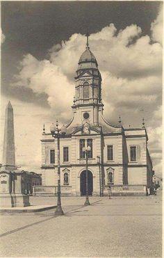 Antiga igreja matriz de Mogi das Cruzes - SP. Década de 30