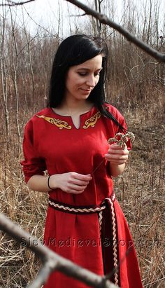 Early Medieval linen under dress with pure by SlavMedievalShop