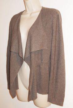 Eileen Fisher Cardigan Sweater Organic Cotton S Drape Open Front Small Knit Peru #EileenFisher #Cardigan