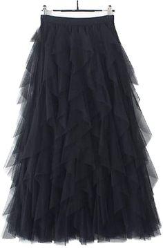 Midi Rock Outfit, Rock Outfits, Jeans Rock, Tutu, Ballet Skirt, Princess, Tulle Skirts, Black, Fashion