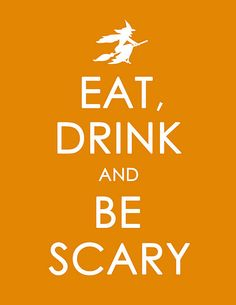 Free Halloween Version of 'Keep Calm and Carry On' printable