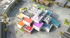 This is the ultimate Lego Experience House, coming in 2016, Billund, Denmark