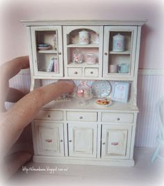 Cupboard  for dollhouses .1:12 th scale - cupboard only, accessories not included - $68.39