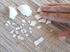 Como preparar cascas de ovos secas para fazer mosaico
