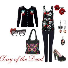 day of the dead inspired outfit