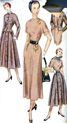 Rare Vintage Sewing Pattern 1950s Simplicity 3127 by paneenjerez, $20.00