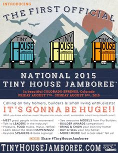 Tiny house info. 7-9 August