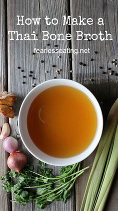 A Thai bone broth is a unique take on broth.You'll learn how and why to make it and some features that make it different from a typical western-style broth.