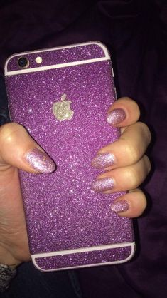 #nails #purple #iphone #glitter #nailgoals