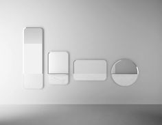 Sylvain Willenz Alaka Mirrors for Retegui at Maison & Objet Wallpaper Magazine, Basic Shapes, Room Accessories, Lighting Accessories, Interiores Design, Designer Wallpaper, Minimalist Design, Event Design, Furniture Design
