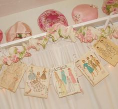 cute for wall - I actually have some vintage patterns .  Maybe include them in a shadow box...