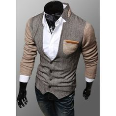 SHARE & Get it FREE   Trendy PU Leather Embellished Pocket Stand Collar Slimming Fabric Splicing Long Sleeves Men's CoatFor Fashion Lovers only:80,000+ Items·FREE SHIPPING Join Dresslily: Get YOUR $50 NOW!