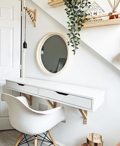 Shop for Furniture, Home Accessories & Shelves Above Desk, Ikea Lack Shelves, Young Mans Bedroom, Ikea Ekby, Home Office Closet, Mirror With Shelf, Aesthetic Rooms, Guest Bedrooms, My Room