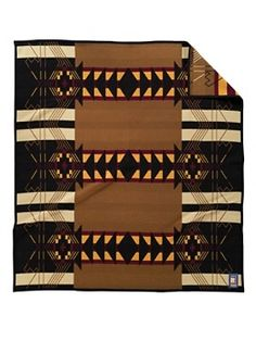 "Pendelton Woolen Mills Tribute Series, Buell Co. #2, 1910 pattern originally called ""Zuni"", but the pattern is actually a striped Hopi manta (Spanish for blanket) design, 64""x72"". $218"