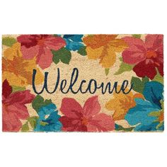 This fresh Mohawk Home Floral Garden Coir doormat welcomes visitors to your home. In multi. Coir Doormat, Mohawk Home, Garden S, Apartment Living, Welcome, Patio, Floral, Polyvore, Home Decor
