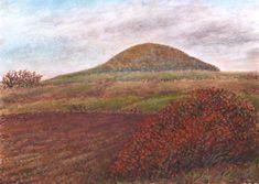 Minimax.cz - umělecký server pro všechny autory - PODZIMNÍ ŘÍP Pastel, Paintings, Songs, Mountains, Landscape, Nature, Travel, Author, Cake