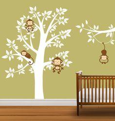Nursery Tree Decal Monkeys Vinyl Wall Stickers by NurseryDecals, $99.99