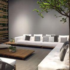 Grand Sofa under the tree Salone Del Mobile 2016 #KVAPTИPA #interior #solutions #boutique #sofa #interiordesign #decor #design #art #architecture #creative #creativeideas #creativedesign #trend #trevel #kvartira #exhibition #salonedelmobile #isaloni #isaloni2016 #italy #milano by kvartira_boutique