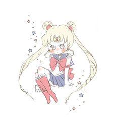 Drawings For Him, Cute Little Drawings, Anime Chibi, Kawaii Anime, Sailor Moon Aesthetic, Sailor Moon Art, Popular Anime, Cartoon Art Styles, Cute Memes