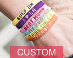 CLASSIC Personalized friendship bracelets with names / Best friend gift with meaning / Custom BFF bracelets for men and women / Handmade Bracelets Bff, Friendship Bracelets With Names, Personalised Friendship Bracelets, Diy Bracelets With String, Best Friend Bracelets, Name Bracelet, Personalized Bracelets, Friendship Bracelet Patterns, Bracelet Crafts