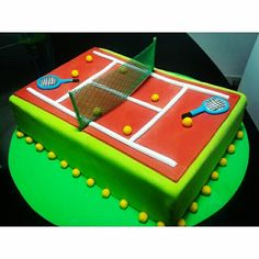 Torta de cancha de tenis Tennis Cake, Tennis Party, Sports Party, British Baking, Throw A Party, Great British, Themed Cakes, Boyfriend Gifts, Party Themes