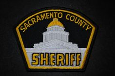 Sacramento County Sheriff Patch, California